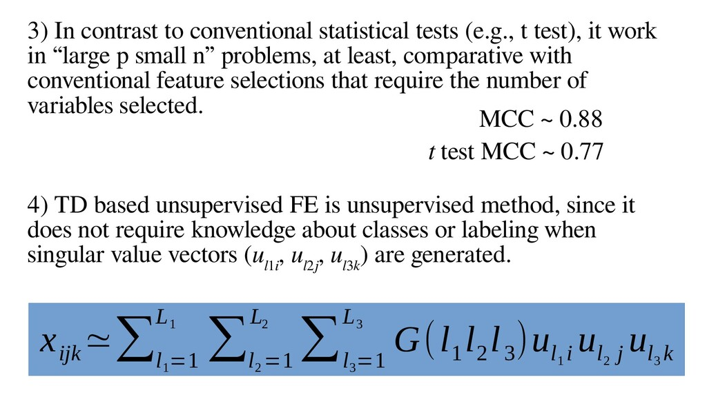 18 3) In contrast to conventional statistical t...