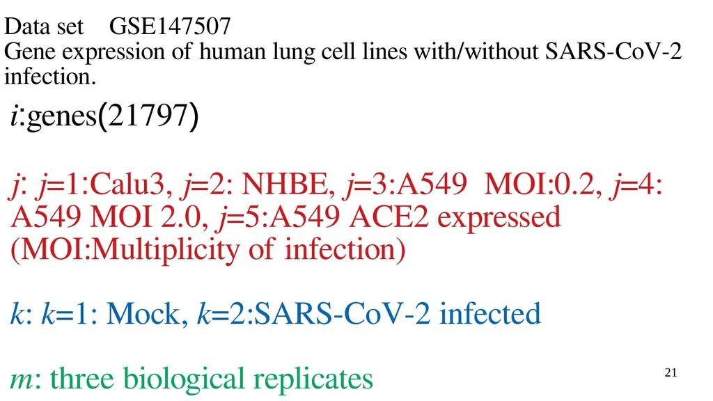 21 Data set GSE147507 Gene expression of human ...