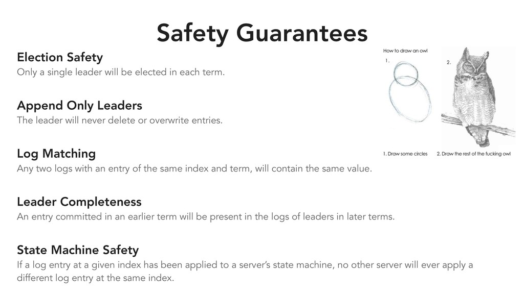 Safety Guarantees Election Safety Only a single...