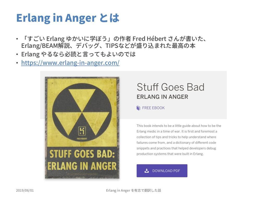 Erlang in Anger とは 2019/06/01 • 「すごい Erlang ゆかい...