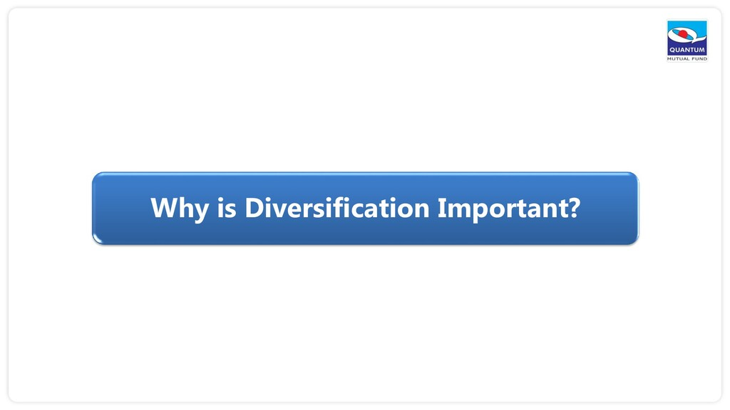 Why is Diversification Important?