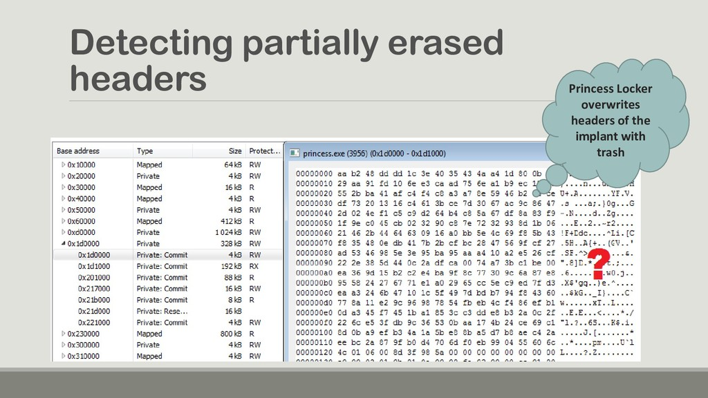 Detecting partially erased headers Princess Loc...