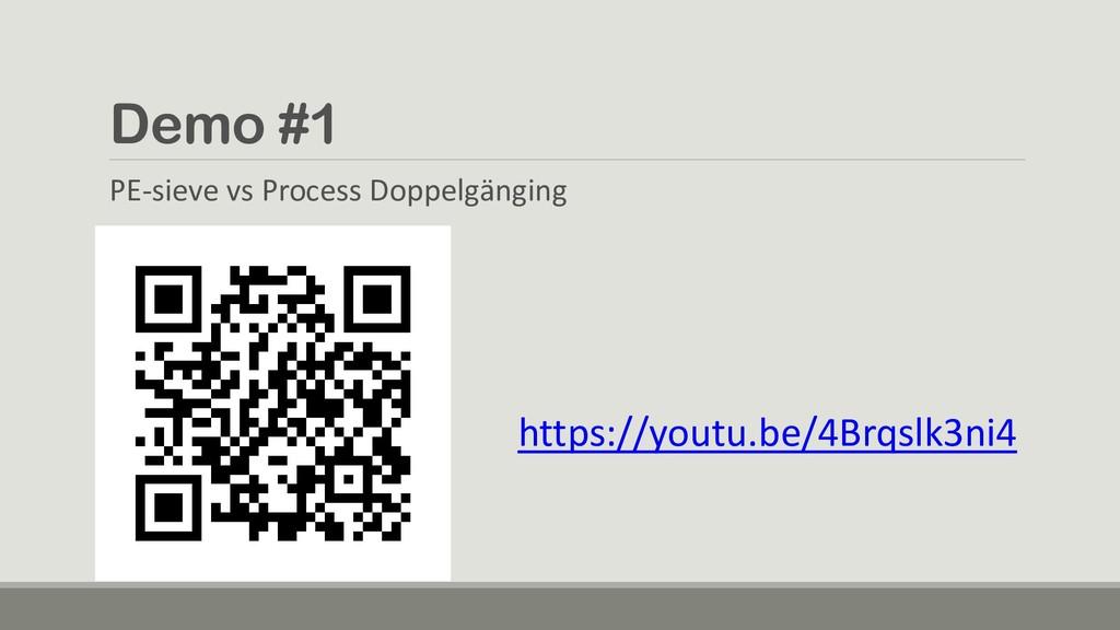 Demo #1 PE-sieve vs Process Doppelgänging https...