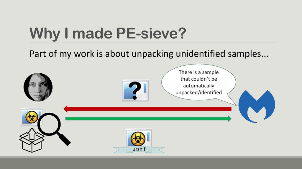 Why I made PE-sieve? There is a sample that cou...