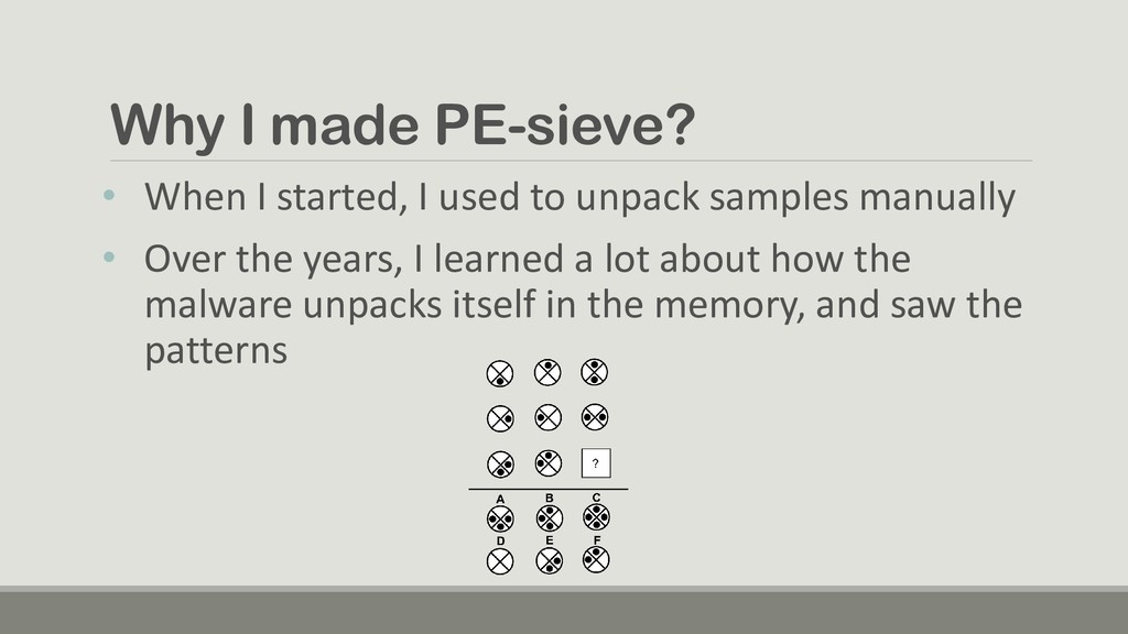 Why I made PE-sieve? • When I started, I used t...