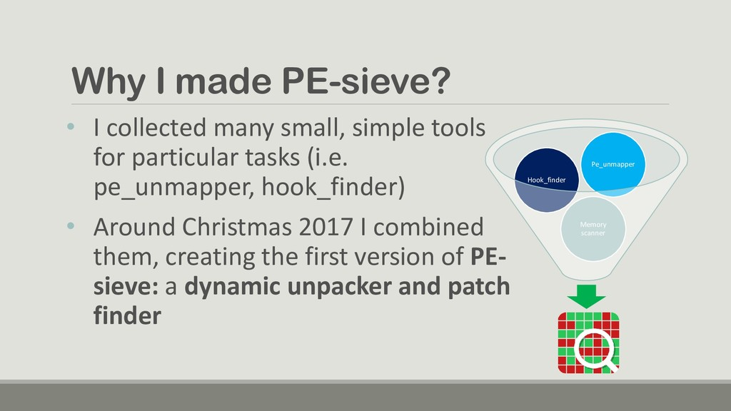 Why I made PE-sieve? • I collected many small, ...