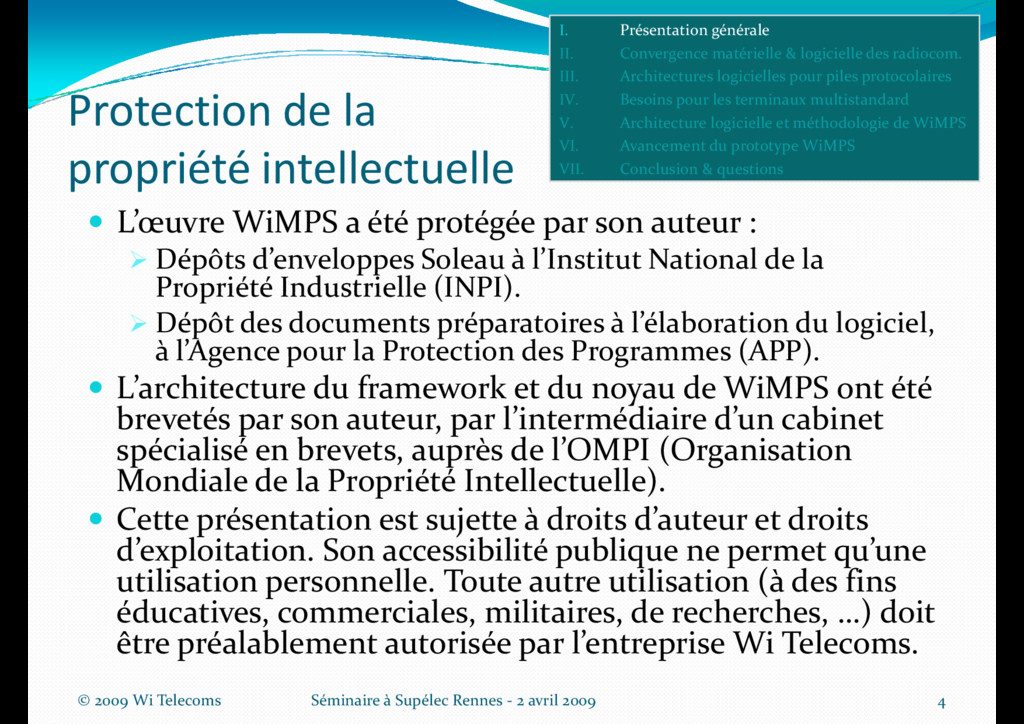 Protection de la propriété intellectuelle L'œuv...
