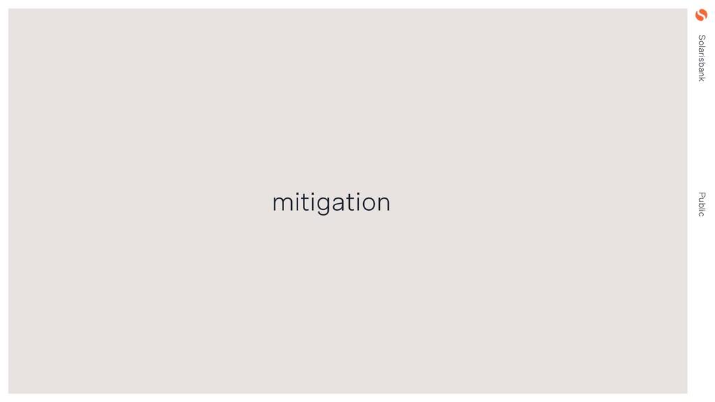 Solarisbank Public mitigation