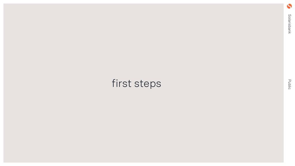 Solarisbank Public first steps