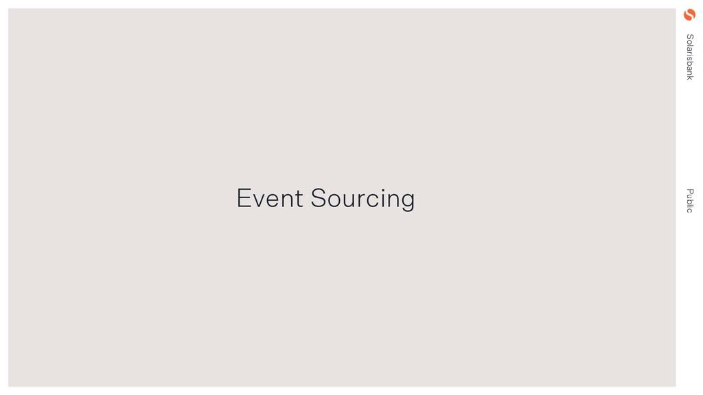 Solarisbank Public Event Sourcing