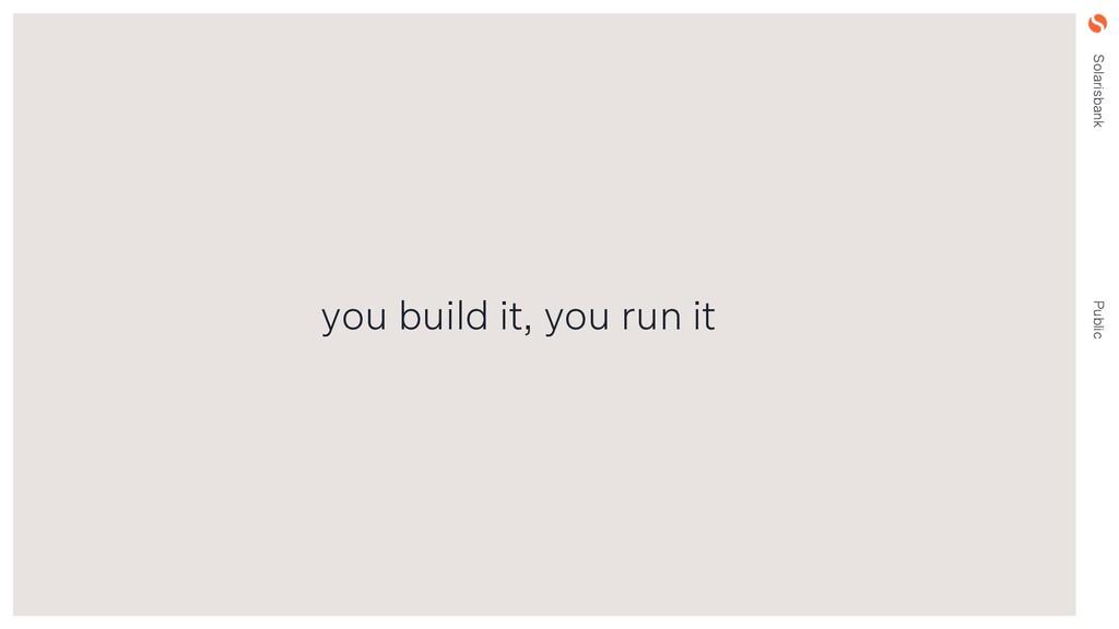 Solarisbank Public you build it, you run it