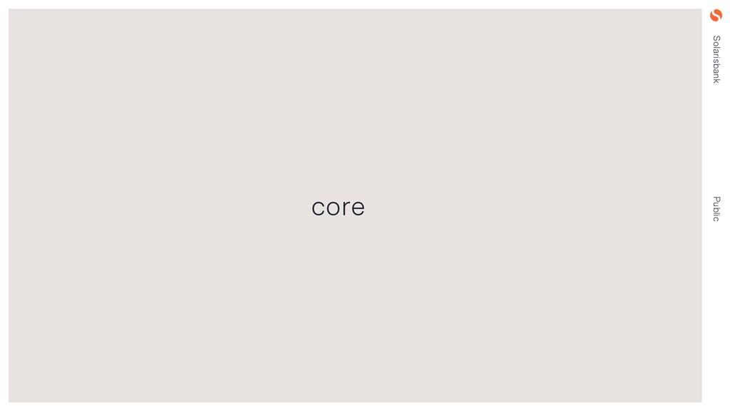 Solarisbank Public core