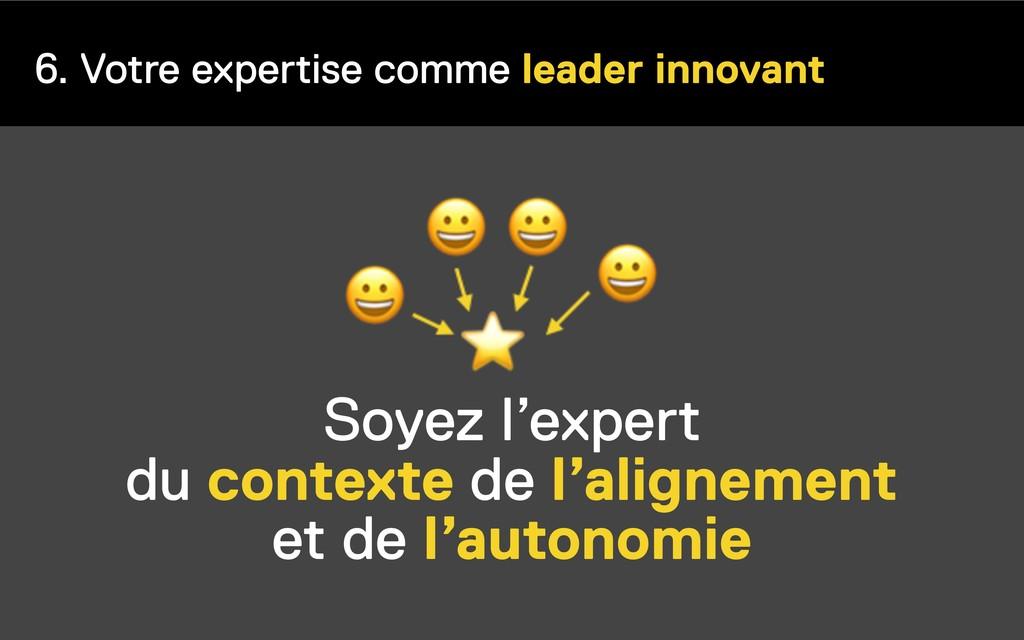 6. Votre expertise comme leader innovant Soyez ...