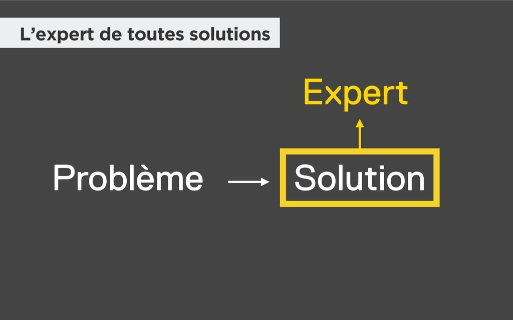 Problème Solution Expert L'expert de toutes sol...