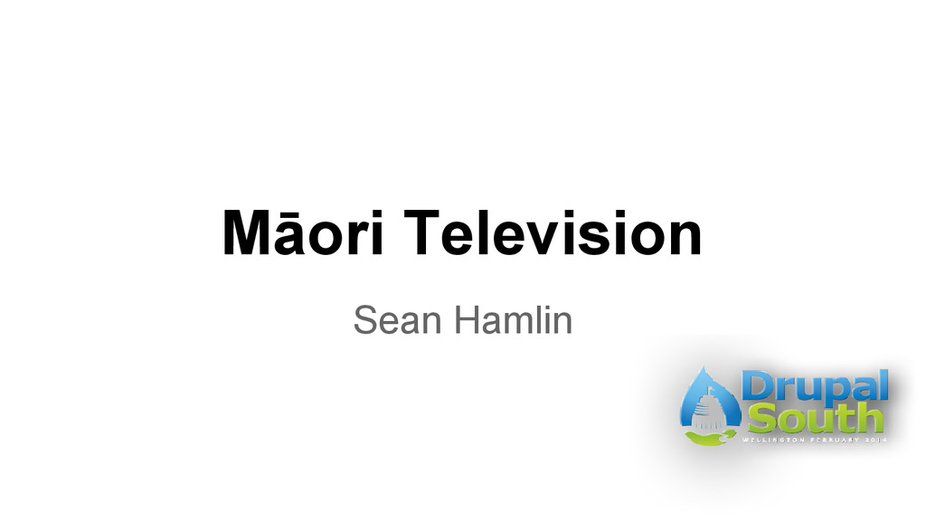 Māori Television Sean Hamlin