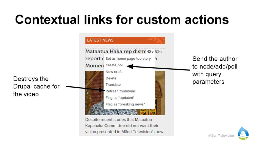 Māori Television Contextual links for custom ac...