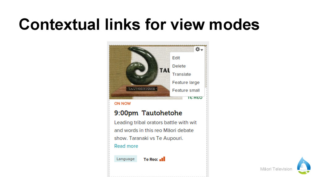 Māori Television Contextual links for view modes