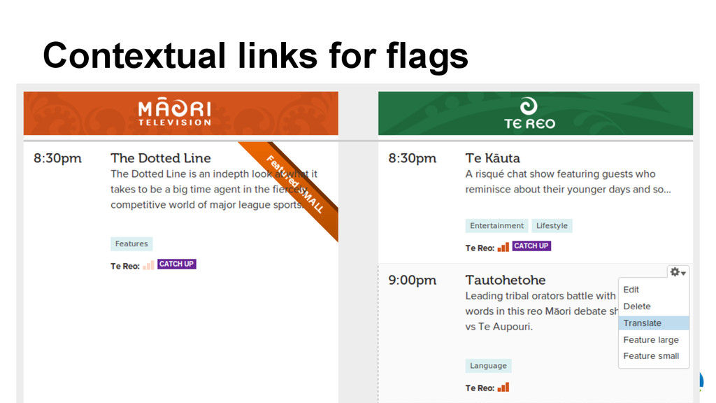 Māori Television Contextual links for flags