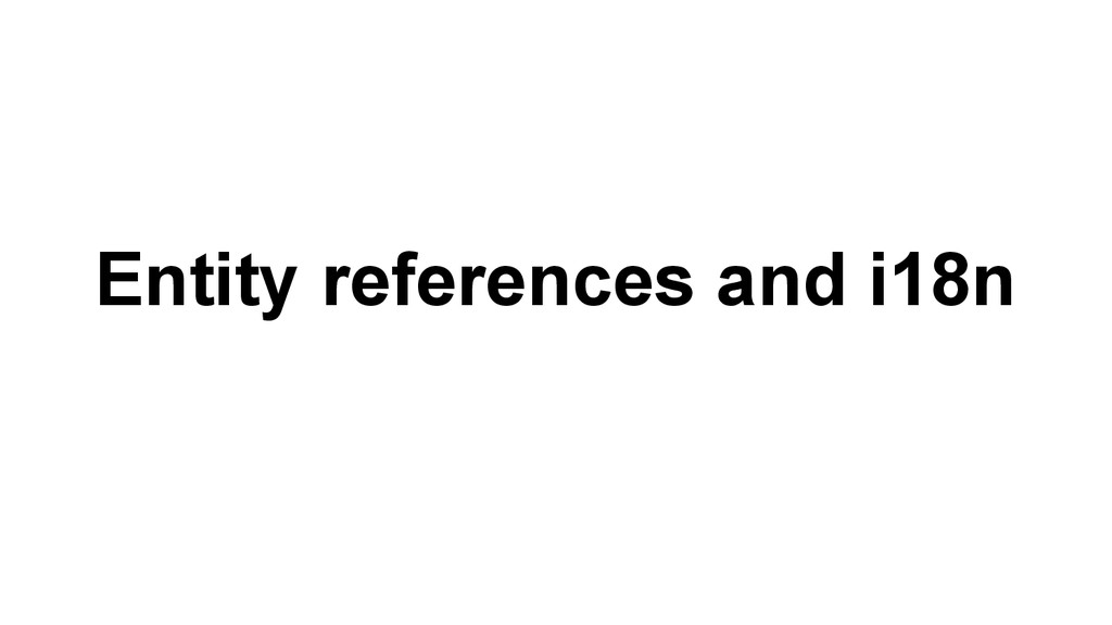 Entity references and i18n