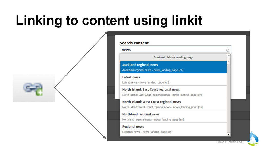 Māori Television Linking to content using linkit