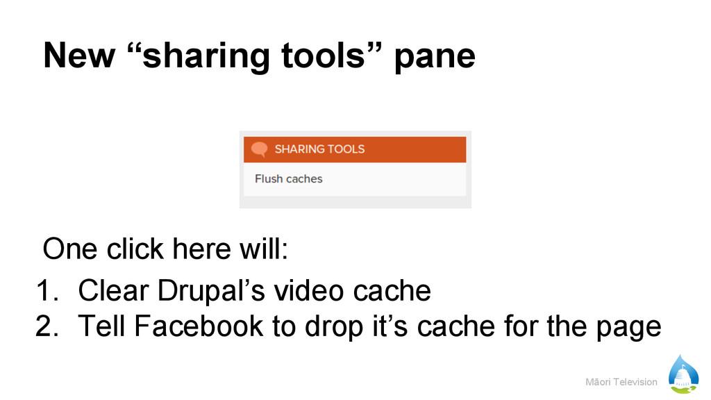"Māori Television New ""sharing tools"" pane One c..."
