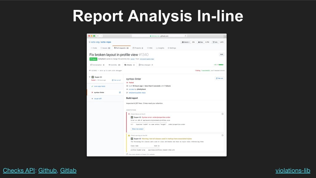 Report Analysis In-line violations-lib Checks A...