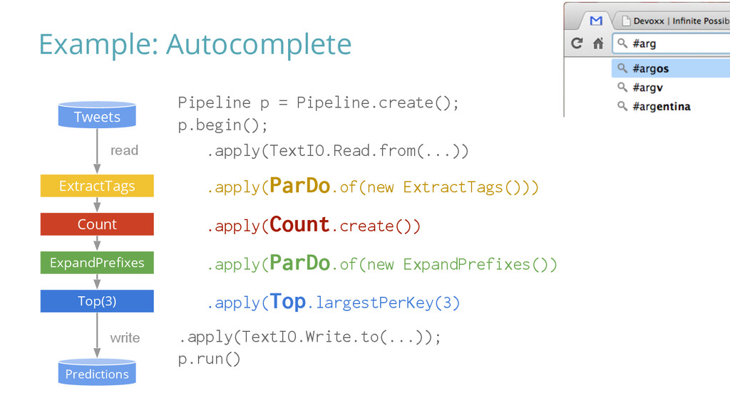 Example: Autocomplete Tweets Predictions read #...