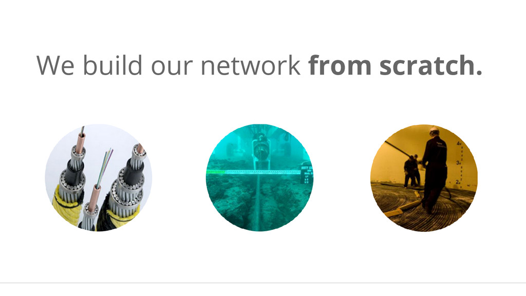 We build our network from scratch.