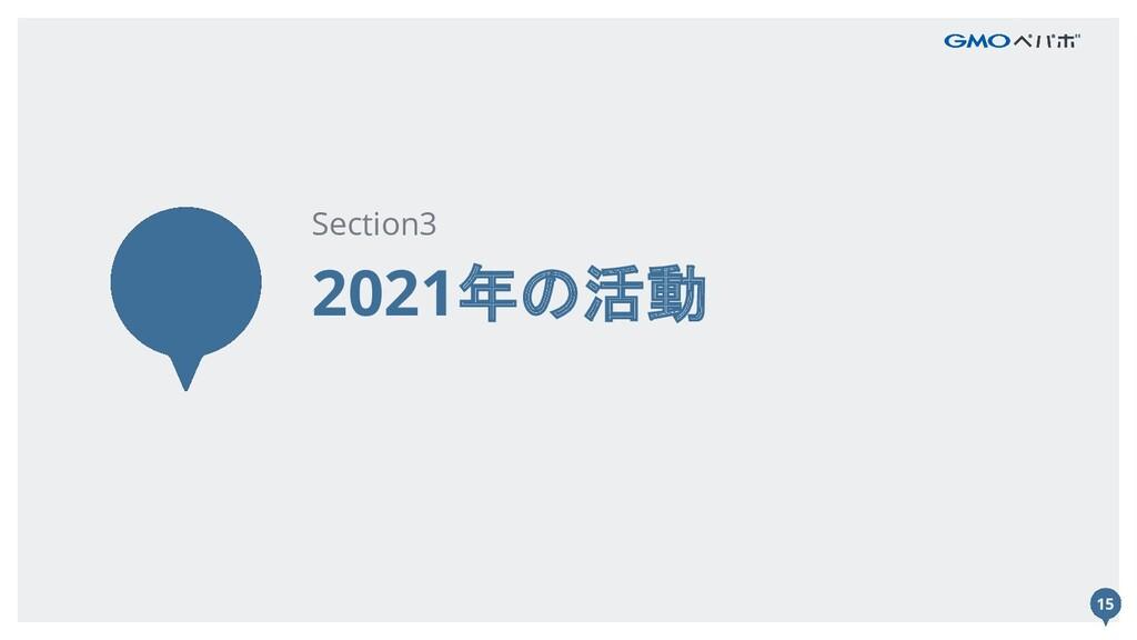 15 2021年の活動 Section3 15