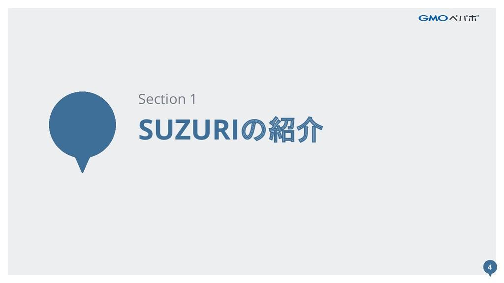 4 SUZURIの紹介 Section 1 4
