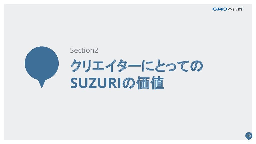 10 クリエイターにとっての SUZURIの価値 Section2 10