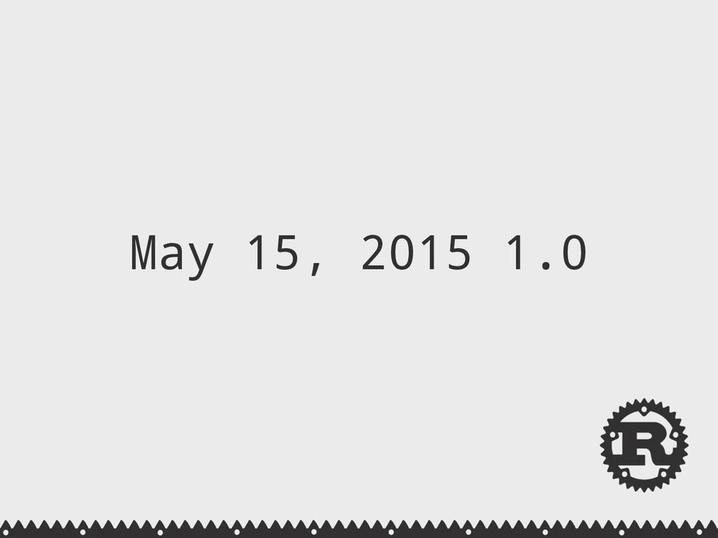 May 15, 2015 1.0