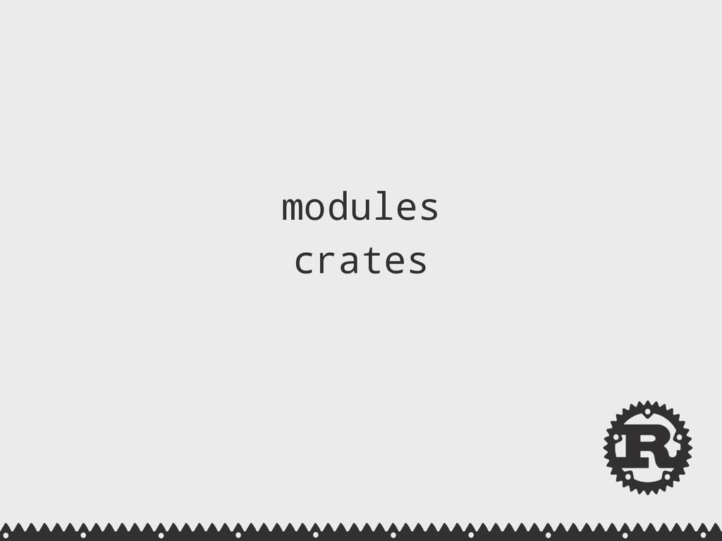 modules crates