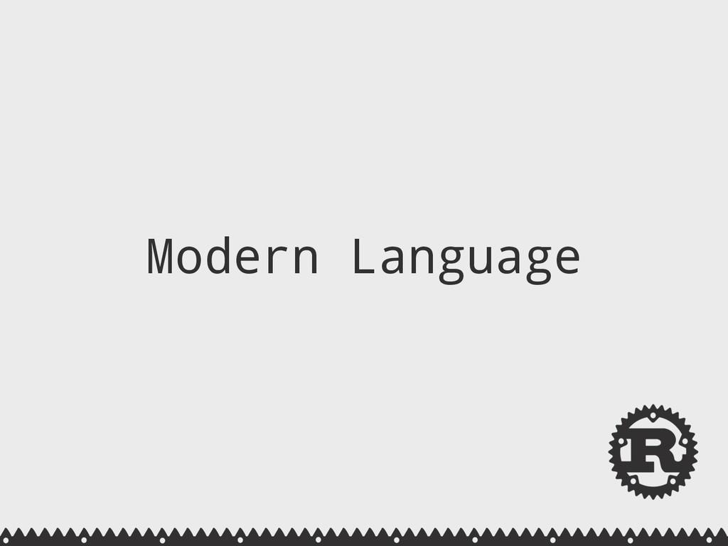 Modern Language