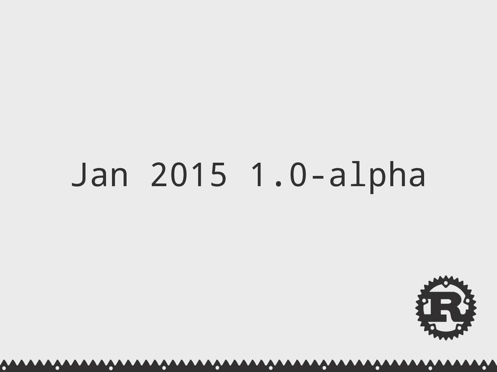 Jan 2015 1.0-alpha