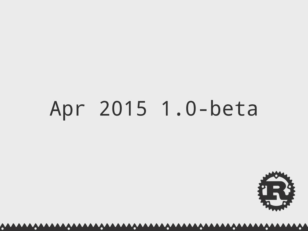 Apr 2015 1.0-beta