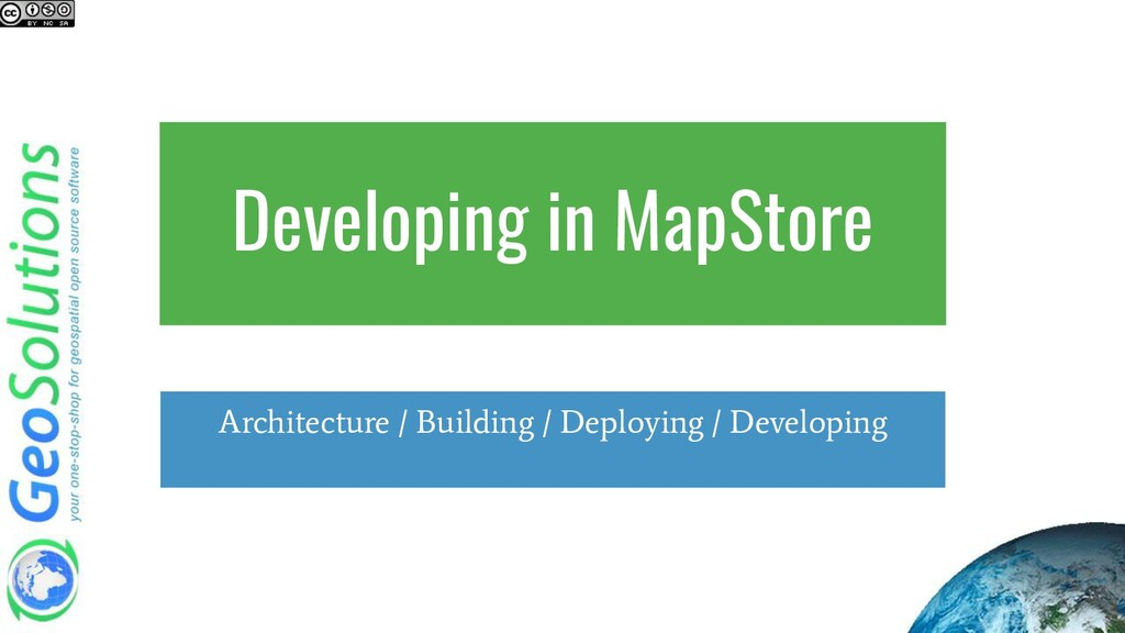 Developing in MapStore Architecture / Building ...