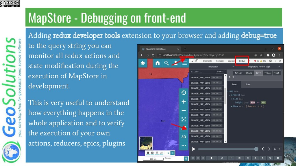 MapStore - Debugging on front-end Adding redux ...