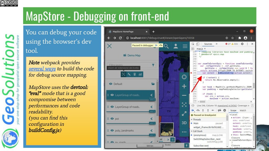 MapStore - Debugging on front-end You can debug...