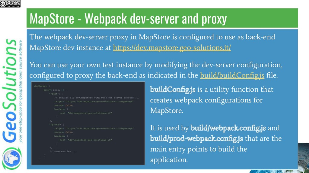 MapStore - Webpack dev-server and proxy The web...