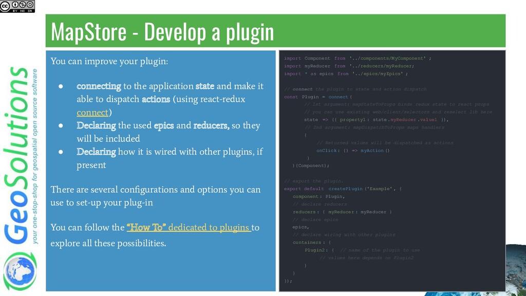 MapStore - Develop a plugin You can improve you...