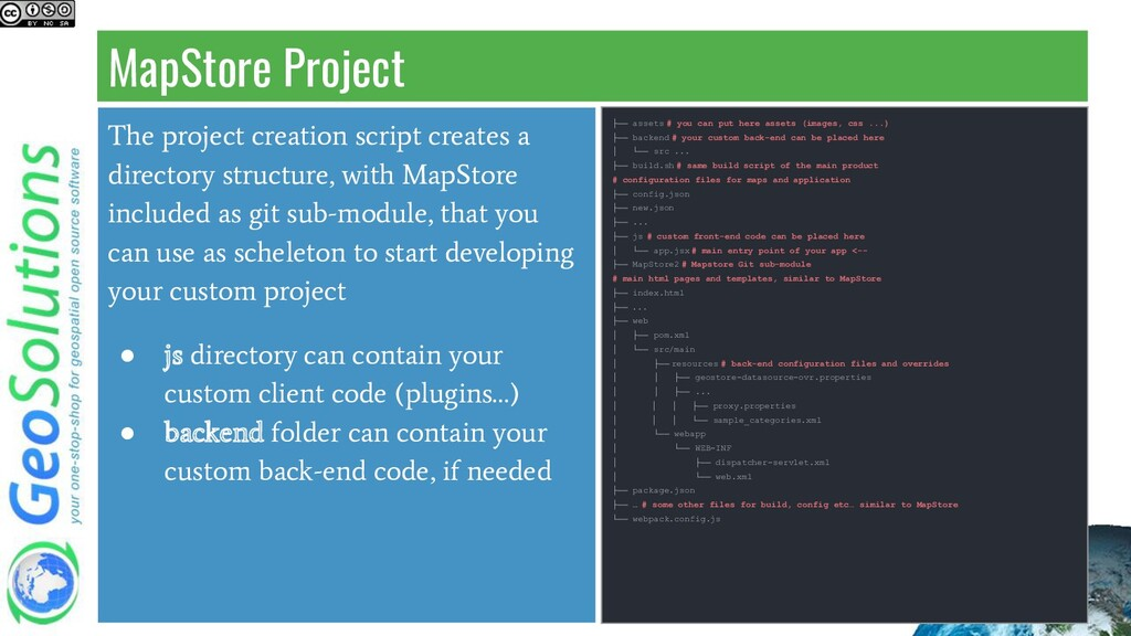 MapStore Project The project creation script cr...