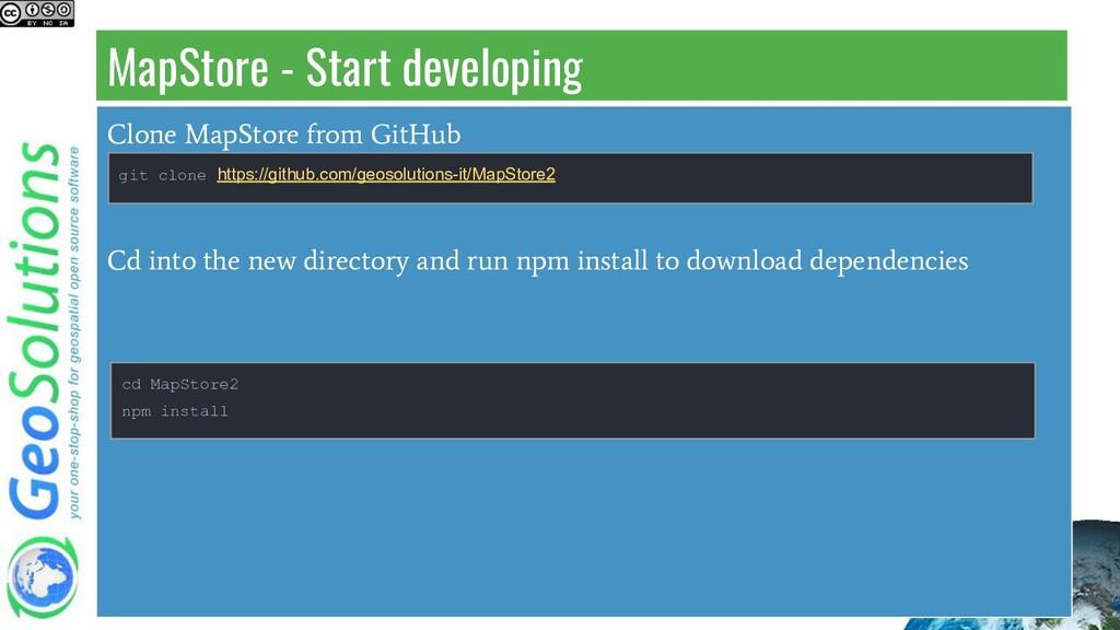 MapStore - Start developing Clone MapStore from...