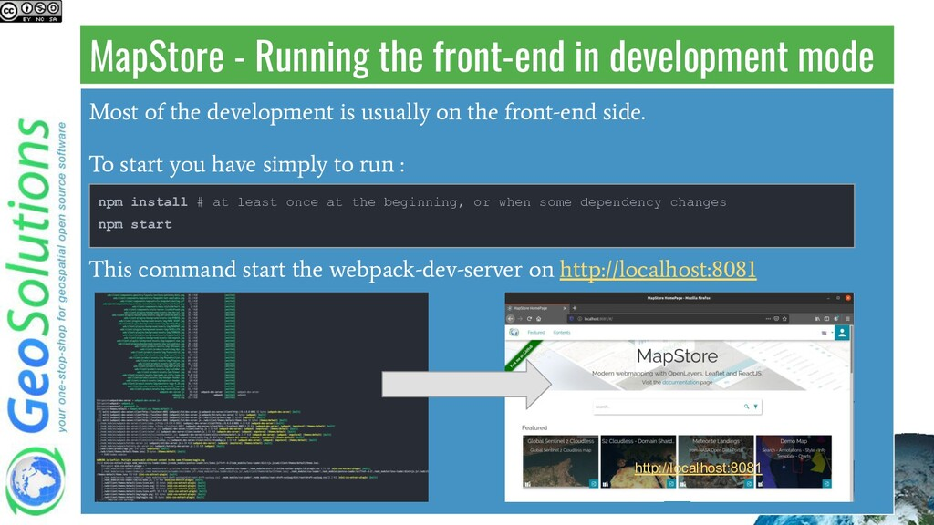 MapStore - Running the front-end in development...