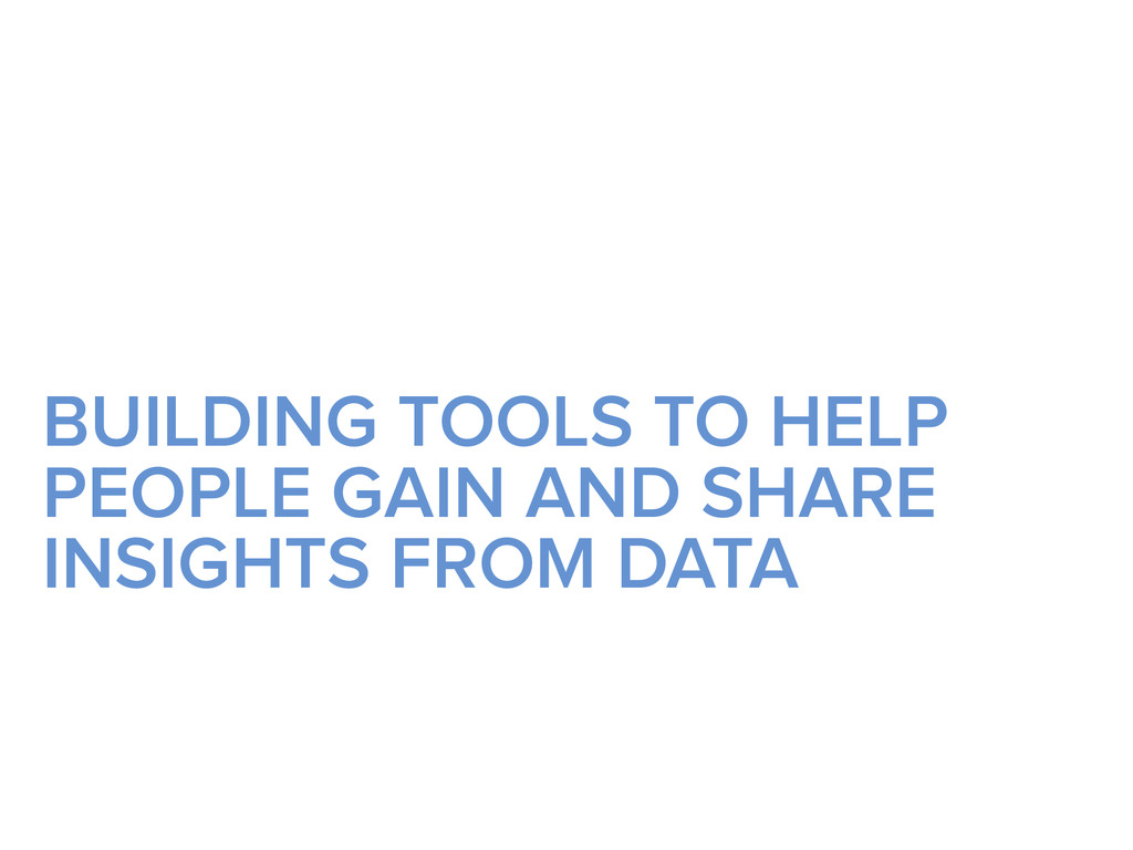 BUILDING TOOLS TO HELP PEOPLE GAIN AND SHARE IN...