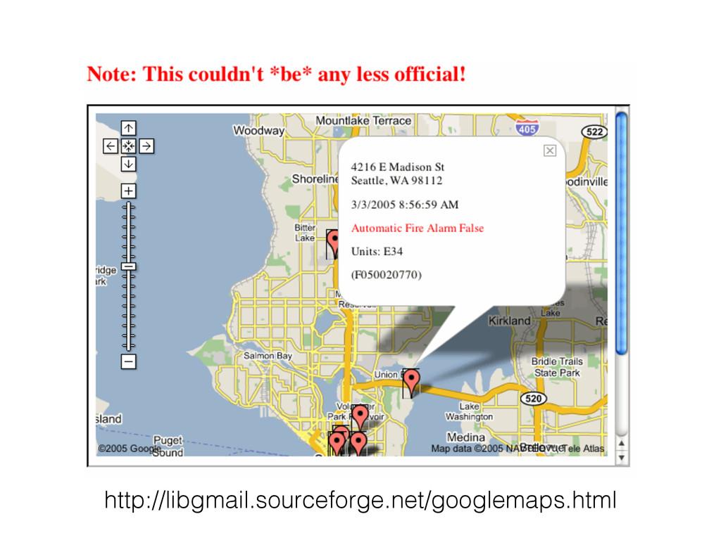 http://libgmail.sourceforge.net/googlemaps.html