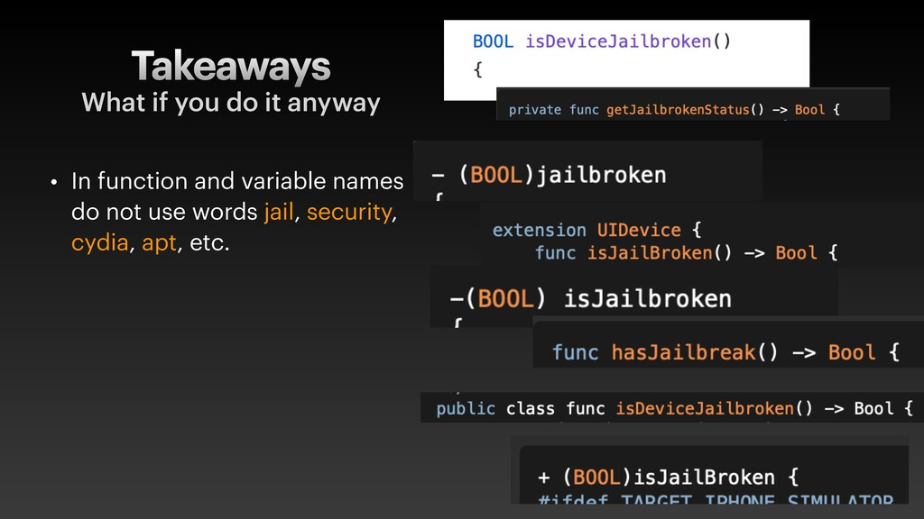 Takeaways • In function and variable names do n...