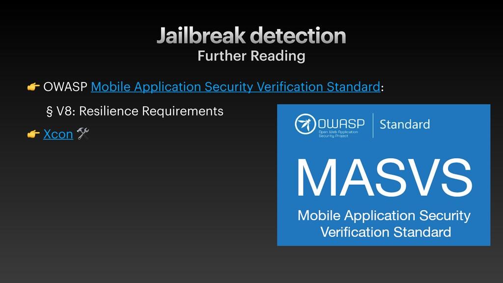 Jailbreak detection Further Reading  OWASP Mobi...