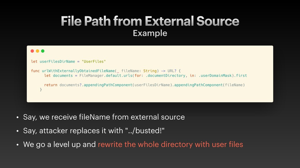 File Path from External Source Example • Say, w...