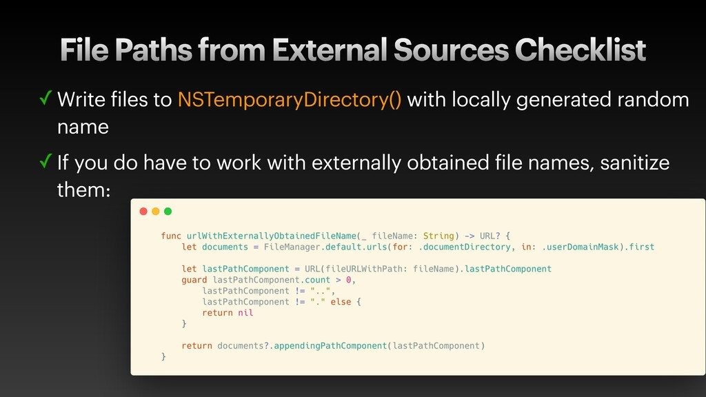 File Paths from External Sources Checklist ✓ Wr...